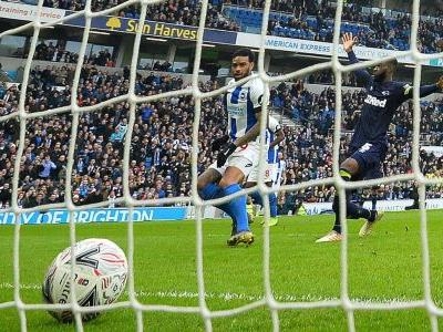 Ashley Cole strikes but Brighton beat Derby; Millwall win at AFC Wimbledon
