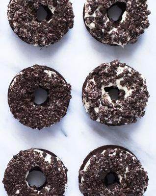 Gluten Free Cookies and Cream Donuts