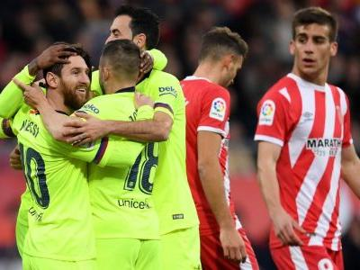 Lionel Messi scores as Barcelona beat Girona to extend lead to five points