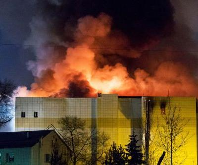 At least 48 dead after fire rips through Russian shopping mall