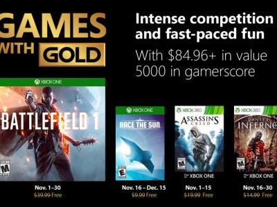 November's Xbox One Games With Gold Are Available: Battlefield 1 And More