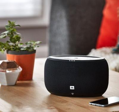 JBL's Link 300 smart speaker gives you multi-room audio and the Google Assistant - it's on sale for $125 at Best Buy