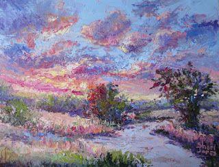 Sky Delight, New Contemporary Landscape Painting by Sheri Jones