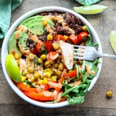 Sriracha Chicken Burrito Bowl