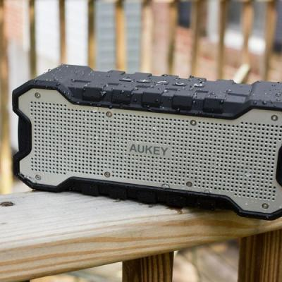 Stream your music to Aukey's rugged Bluetooth Speaker on sale for $21