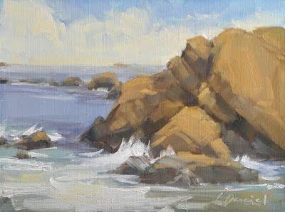 Hidden Beach - Painting on the West Coast