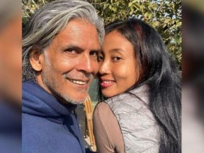 Milind Soman and Ankita Konwar look sunkissed in no-filter pic from Darjeeling