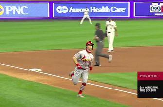 WATCH: O'Neill, Miller go deep as Cards beat Brewers in Game 1 of doubleheader