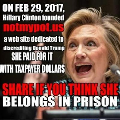 Hillary Clinton Starting Anti-President Donald Trump Website With Taxpayer Dollars Is False
