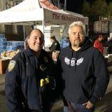Guy Fieri Cooked Dinner For First Responders Battling the Wildfire in Northern California