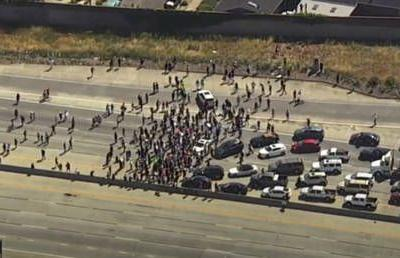 WATCH protesters SHUT DOWN San Jose freeway as George Floyd rallies sweep the country