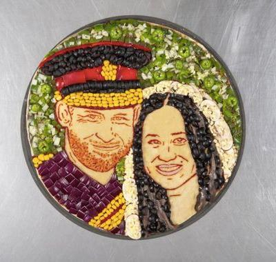 Papa John's Royal Wedding Pizza Has Meghan Markle & Prince Harry's Faces On It