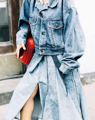 The New Way to Wear Denim on Denim This Fall