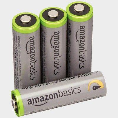Keep your devices powered up with four $9 rechargeable AA batteries