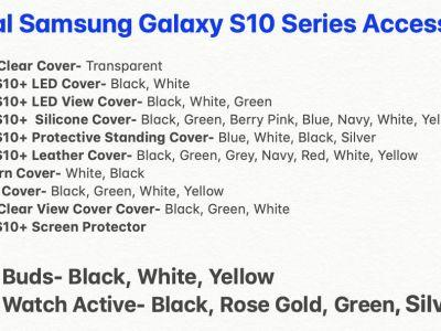 Official Galaxy S10 Accessories Not As Unique As Next Samsung Flagship