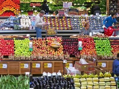 Fruit and vegetables should be the first thing you see at a supermarket