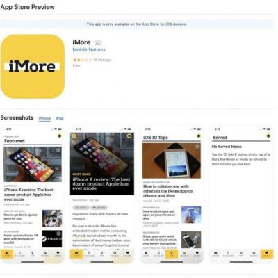 App store listings on the web have a whole new design