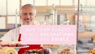 Non-toxic does not equal edible; be careful when decorating holiday treats