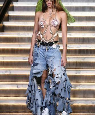 Madonna's Daughter Walked Her First Runway Show in a Controversial Outfit