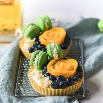 Tequila lime fruit tarts