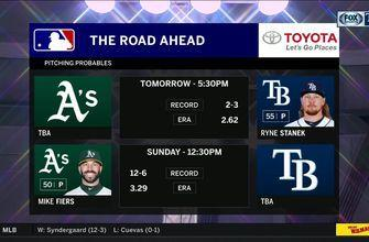 Ryne Stanek starts pivotal Game 2 for Rays against A's