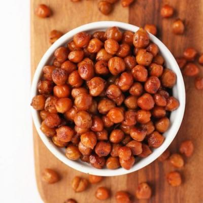 Bacon Flavored Roasted Chickpeas