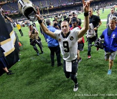 Drew Brees named NFC offensive player of the week after record night