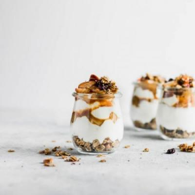 Pear Parfait with Skillet Granola