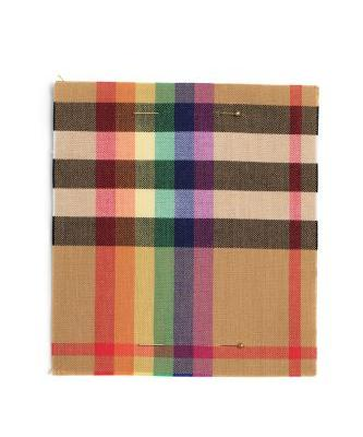 Christopher Bailey has made a rainbow check for his last Burberry show