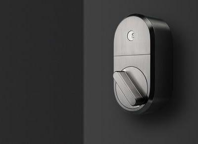 August Smart Lock satin nickel model comes bundled with Wi-Fi Connect bridge