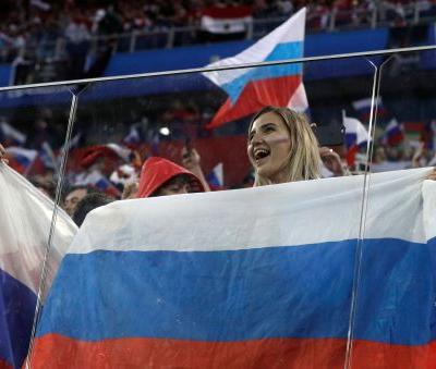 Russian fans celebrate once-maligned team as heroes