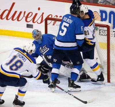 Steen goal, Allen shutout leads Blues past Jets 1-0