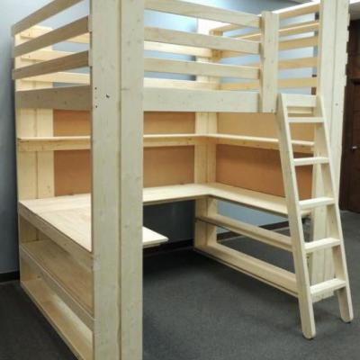 20 Luxury Bunk Bed with Couch and Desk Graphics