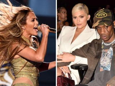 """Fans Blast Kylie Jenner and Travis Scott for """"Looking Bored"""" During Jennifer Lopez's Epic VMAs Performance"""