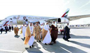 The Emirates A380 Receives An Official Visit At The Bahrain International Airshow