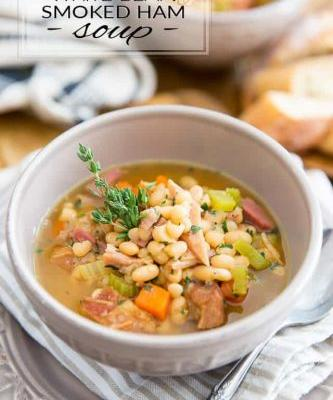 White Bean and Smoked Ham Soup