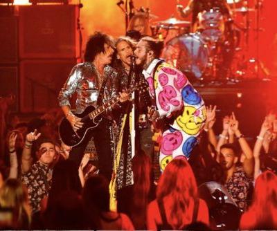 Post Malone Performs With Aerosmith & 21 Savage at MTV VMAs 2018