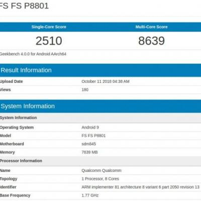 OnePlus 6T Hits Geekbench With 8GB Of RAM, SD845 & Android Pie