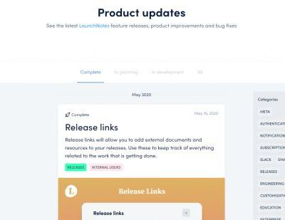 LaunchNotes helps companies better communicate their software updates