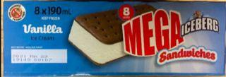 Ice Cream Sandwiches recalled for risk of metal particles