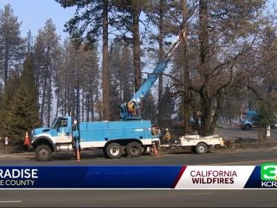 PG&E working to restore power in Camp Fire burn zone