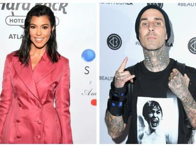 So, Travis Barker Commented on Kourtney Kardashian's Latest Insta Pic and Now Fans Think They're ~An Item~