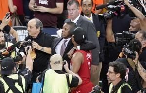 The Latest: Deputy taken to hospital after championship game