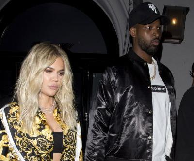 Khloé Kardashian stuns in Versace on date night with Tristan Thompson