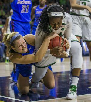 Shepard has 39 points, No. 2 Notre Dame beats DePaul 91-82