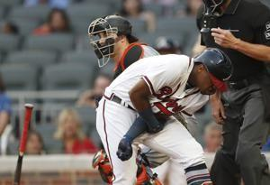 Acuna hit by Urena's first pitch; Braves, Marlins brawl