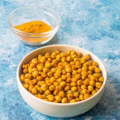 Curried air fryer chickpeas