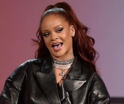 Rihanna paired a leather suit with tons of diamonds at the 2019 BET Awards