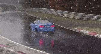 Watch A BMW M3 Crash At The 'Ring During A Snowstorm