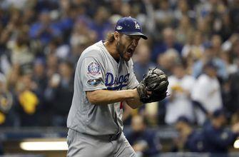 Kershaw struggles as Dodgers lose to Brewers in NLCS opener